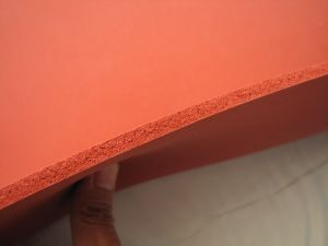 Dark Red Silicone Sponges Rubber Sheet, Special for Ironing Table pictures & photos