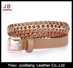 Fashionable PU Chain Belt for Lady′s Dresses