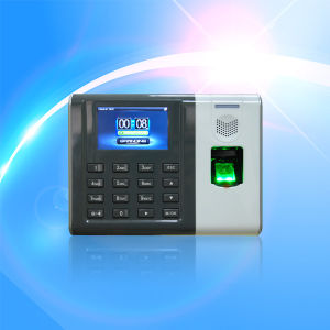 Office Security Time Clock Terminal with Fingerprint Reader pictures & photos