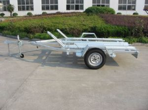Motorcycle Trailer Cmt-39 with Loading Ramp Getting Ramp