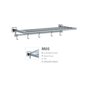 Upward Turning Stainless Steel Bathroom Sanitary Ware Towel Rack (M05) pictures & photos