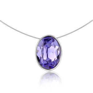Lady Fashion Jewelry Purple Crystal Collar Necklace pictures & photos