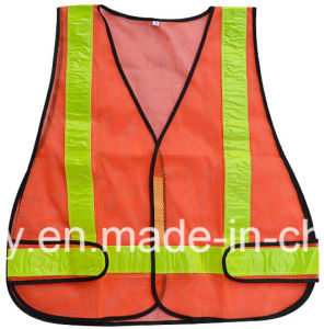 Black Safety Belt Vest with Yellow Reflective Tape pictures & photos