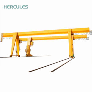 Rail Mounted Mobile 10t Single Girder Gantry Crane pictures & photos