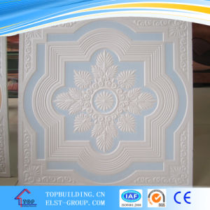 595*595*9mm Glass Fiber Reinforced Colorful Gypsum Ceiling Tile/Colorful Gypsum Ceiling Tile pictures & photos