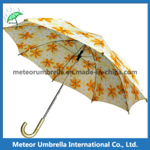 Market Beautiful Printing Yellow Flower Umbrella for Sale