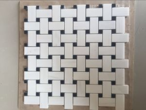 Bianco Dolomite Basket Weave Mosaic, Marble Mosaic and Mosaic Tiles pictures & photos