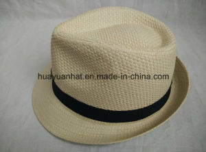 100%Paper Straw Leisurely Style Fedora Hats pictures & photos