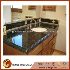 Natural Green Granite Bathroom Vanity Top pictures & photos