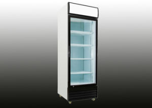 550L Upright Hinged Glass Door Display Cooler/Upright Display Refrigerator pictures & photos