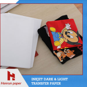 Iron on Transfer Paper, Easy Cutting Dark T-Shirt Heat Transfer Paper for 100% Cotton Fabric pictures & photos