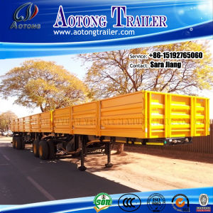 40ft Flatbed Interlink Semi Trailer /Cargo Container Trailer pictures & photos