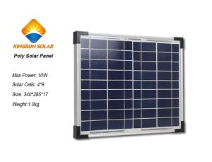 10W Small Size and Power PV Poly-Crystalline Silicon Solar Panel Module/Poly Solar Panel pictures & photos