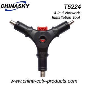 4 in 1 Installation Coaxial Cable Stripper for Rg59/6 (T5224) pictures & photos