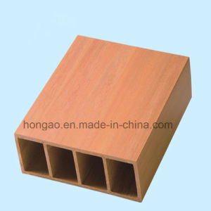 Eco-Friendly 150*50mm Square Tube Wood Plastic Composite