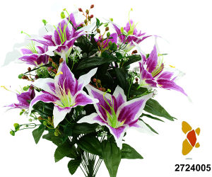 Artificial/Plastic/Silk Flower Tiger Lily Bush (2724005) pictures & photos