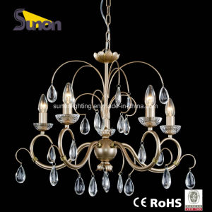 Eroupean Style Wrought Iron with Lustre Crystal Hanging Lighting with UL pictures & photos