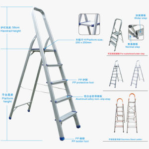 3 Steps Folding Ladder with Handrail