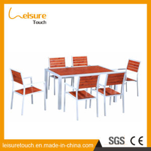 New Design Leisure Aluminum Polywood Chair and Table Outdoor Garden Patio 6 Seaters Table Furniture pictures & photos