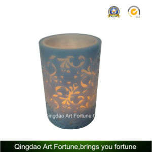 Flameless LED Wax Candle with Decal Flower pictures & photos