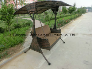 Garden Rattan Double Swing Chair furniture pictures & photos