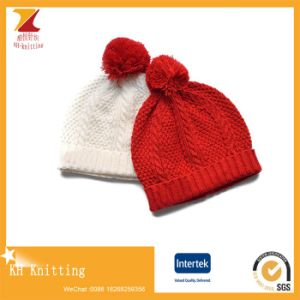 Winter Womens Soft Warm Knitted Hats with Pompom pictures & photos