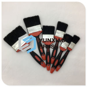 Black Bristle Paint Brush with Rubber Handle for Painting pictures & photos