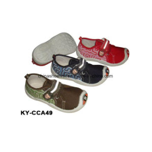 China Wholesale Children Casual Shoes Canvas Upper Injection Sole pictures & photos
