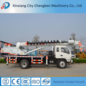 Truck Crane Feature Cargo Crane System with Auger Drill pictures & photos