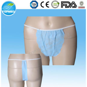 Disposable PP/SMS Polypropylene Bikini/Tanga/SPA Underwear pictures & photos