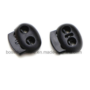 Two Holes Plastc Cord Lock pictures & photos
