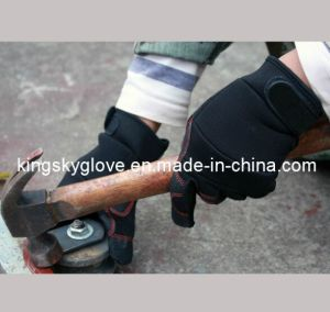 Micro Fiber PVC Reinforced Palm Mechanic Glove-7215 pictures & photos