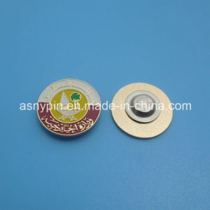 Qatar National Day Magnetic Round Enamel Country Emblem Lapel Pin Badge pictures & photos