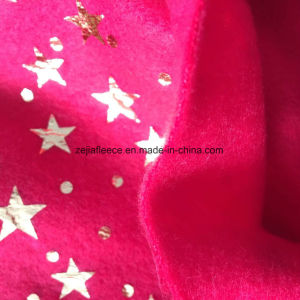 Silver Hot Stamping Fleece Fabric Christmas Decoration pictures & photos