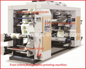 Nonwoven Fabric Roll to Roll Flexo Printing Machine 4 Colors pictures & photos