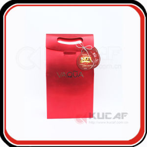 Customized Red Color Art Paper Gift Bags pictures & photos