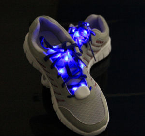 Flashing Nylon Shoelace Flashing Shoe Laces LED Shoelace for Party pictures & photos
