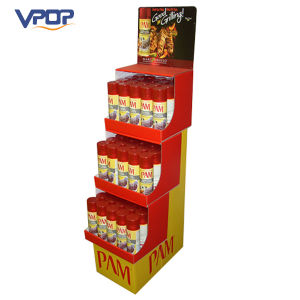 Custom Cardboard 3 Tier Food Display Units with Header Card pictures & photos