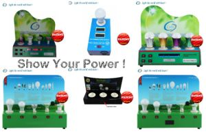 Customized LED Lights Demo Case E27 E14 GU10 MR16 pictures & photos
