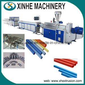 Twin-Screw Plastic PVC Pipes One out Four Extrusion Making Machine Production Line pictures & photos