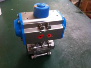 3PC Pneumatic Ball Valve Ss304 pictures & photos