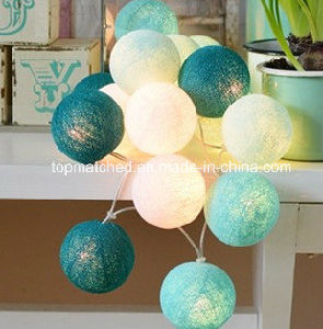High Quality China Multicolor Cotton Ball LED String Lights Thailand for Party Wedding Christmas Decoration pictures & photos