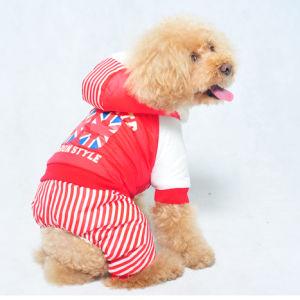 Strip Dog Winter Clothes Warm Pet Apparel pictures & photos
