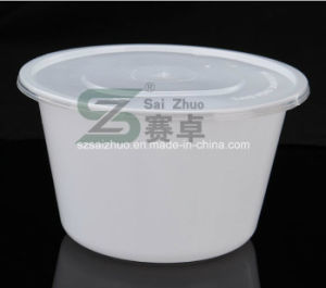 2500ml High Cover PP Big Disposable Plastic Food Bowl pictures & photos