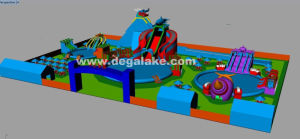 Customized Inflatable Water Park for Amusement Park pictures & photos