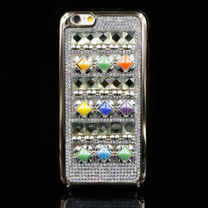 Beautiful Diamond + Agate Mobile Phone Case for iPhone
