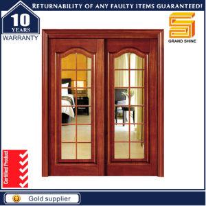 Solid Wooden Double Panel Fiberglass Modern Interior Wood Door pictures & photos