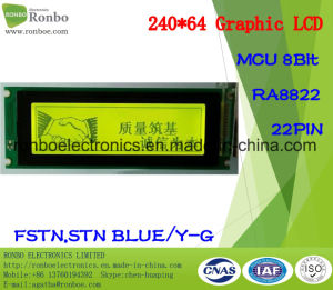 240X64 Graphic LCD Screen, MCU 8bit, Ra8822, 22pin, COB Stn LCD Display pictures & photos