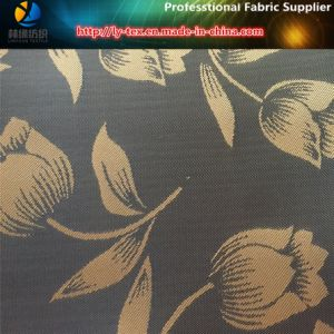 Rose Jacquard Woven Fabric, Polyester Lining Jacquard in Twill Taffeta (3) pictures & photos