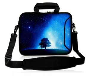 "Colorful Pattern Laptop Bag 17"" Neoprene Sleeve Case with Handle&Shoulder Strap pictures & photos"